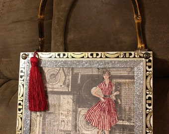 Glitter and glam cigar box purse