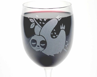 Sloth Wine Glasses