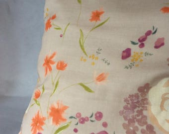 Plum Nani Iro Japanese fabric pillow cover / orange