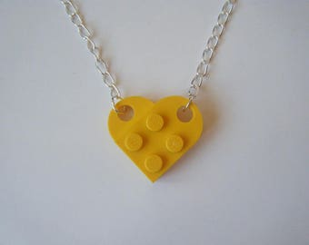 Necklace yellow lego heart ♥ ♥
