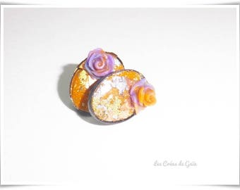 Earrings Rich Issime • cold porcelain, silver foil earing • fashion jewelry •