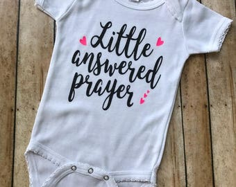 Little Answered Prayer, New Baby, Pregnancy Announcement, Baby Shower Gift, Mircale Baby, Baby Girl