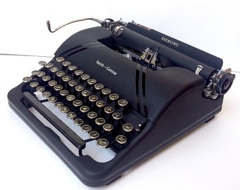 Smith Corona Sterling Floating Shift Speedline Series Portable Manual Typewriter