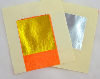 Gold and Silver Joss paper for Collage Scrapbooking Mixed Media