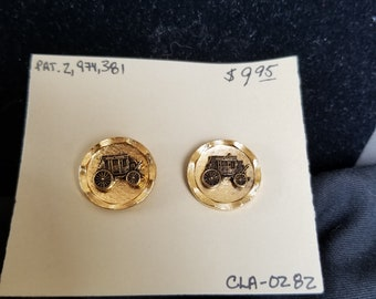 Cuff links - stage coach