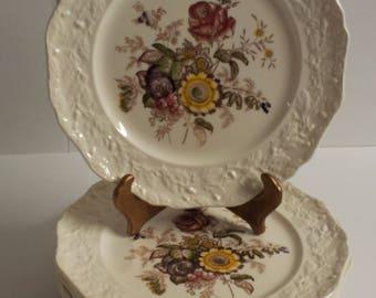 "Vintage MASON'S Friarswood Patent Ironstone 10 1/2"" Dinner Plate Set of 8"