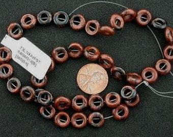 10mm donut mahogany obsidian beads gemstone