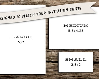 Medium Add-On Card for Factory Made Invitation Purchases // Rehearsal, Reception, Registry, Accommodations, Directions, Website