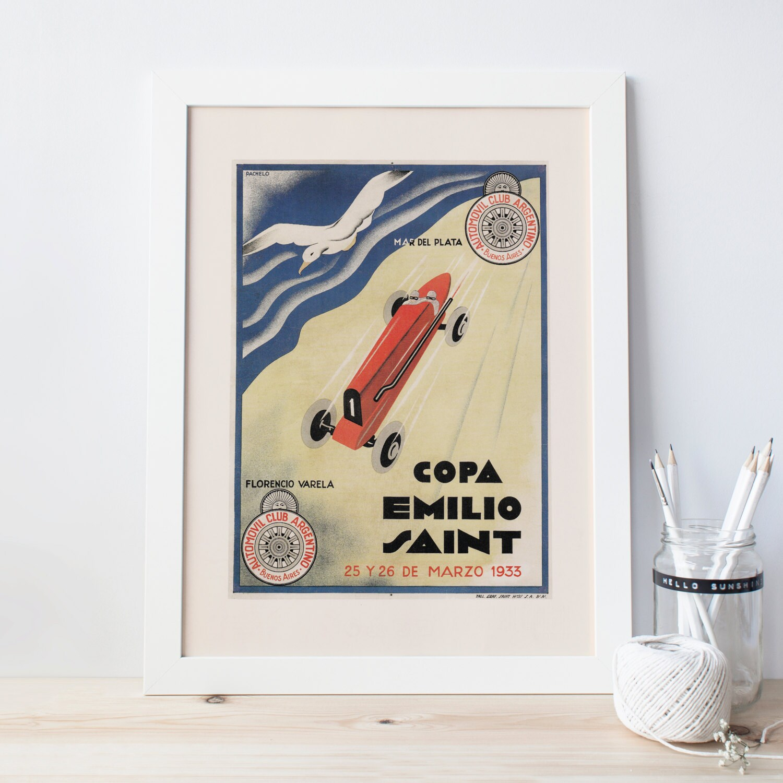 Argentinien Automobil-Club Poster Art-Deco Print Art Deco