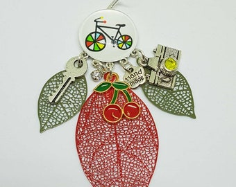 Gorgeous cabochon 20mm bicycle earrings