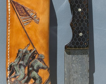 Stunning one of a kind knife and sheath