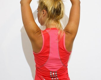 ADIDAS Fitness ClimaCool Halterneck Top/Bra/Vest in  Pink / workout/ yoga/ running / athleisure