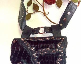 Rocker Bag Belt Croco
