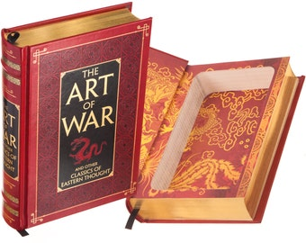 Hollow Book Safe - The Art of War by Sun Tzu (Leather-bound) (Magnetic Closure)
