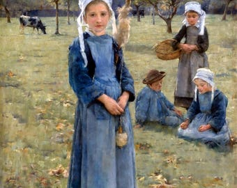 The Orchard, Quimperle Painting by Stanhope Alexander Forbes Art Reproduction