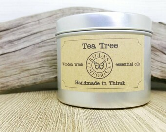 Tea Tree - Wooden Wick Travel Candle