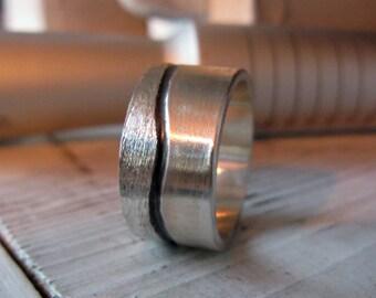 12mm Silver Ring Mens Wedding Band Mens Wedding Ring Unique Mens Wedding Band Viking Wedding Ring Mens Wedding Bands Mens Rustic Wedding