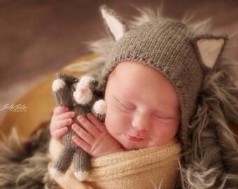 Photoprops Baby Bear Newborn set-baby bear cap-outfit-Newborn cat outfit