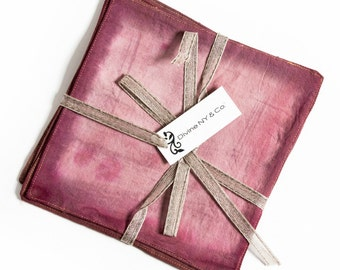Cloth Cocktail Napkins - Dip Dyed Napkins – Rose Napkins –  Hand dyed Napkins – Wedding Linens - Wedding Gift - Bridesmaid Gift