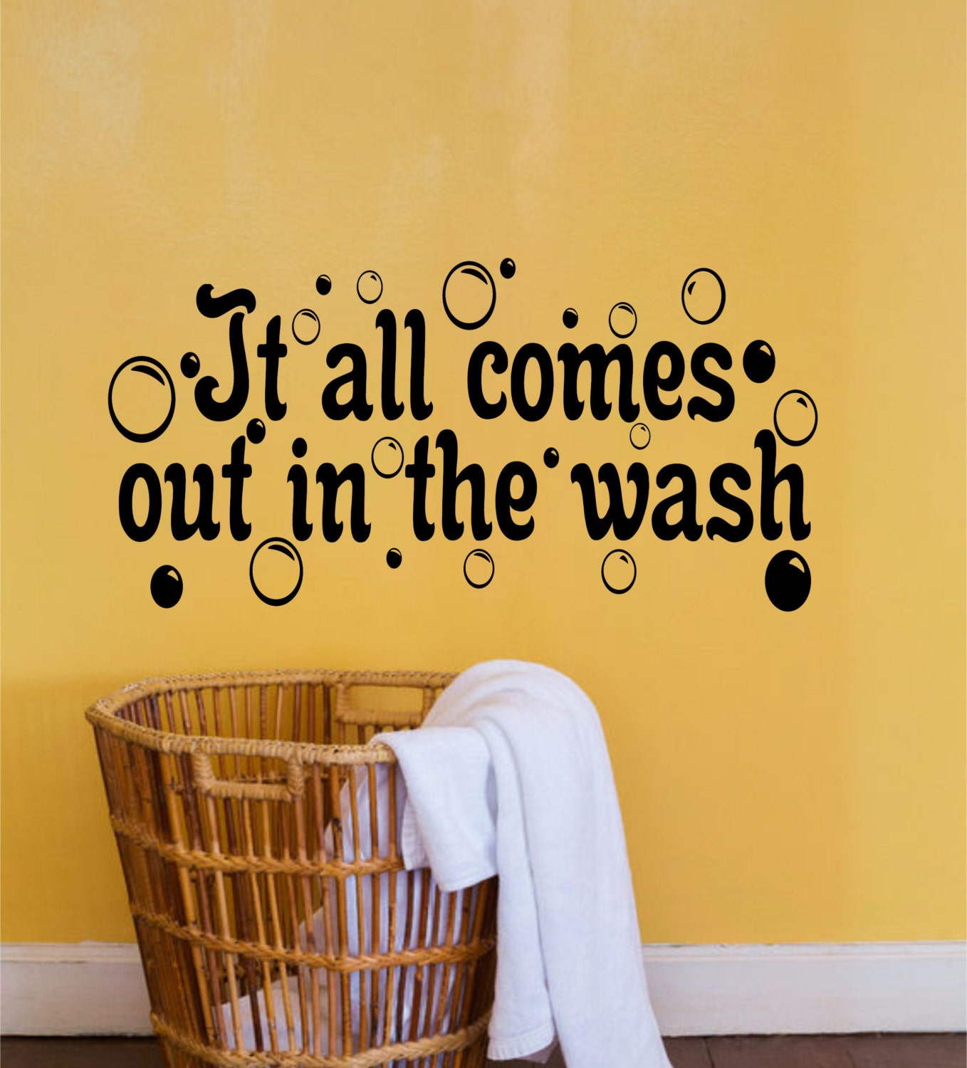 It all comes out in the wash Laundry Room Decor-Laundry Wall