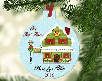 Personalized Our First Home Christmas Ornament~ New Home ~ First Home ~ Christmas Ornament ~Family Ornament