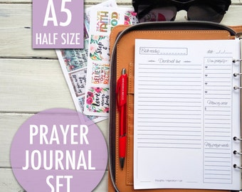 Prayer journal, bible study, christian planner, daily devotional, filofax inserts, Bible journaling, christian inserts, christian inserts