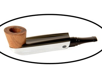 Modern compact filtered smoking pipe