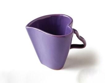 Handmade Ceramic Heart Cup small, Handmade ceramic mug, Coffee cup, Tea cup, Stoneware Cup, Pottery Cup, Mug, Drinkware, gift