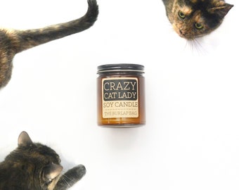crazy cat lady 9oz soy candle