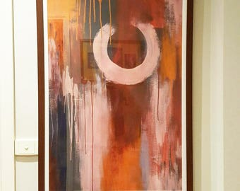 Original abstract acrylic painting on paper