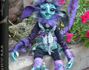OOAK Polymer Clay Goblin, Pixie, Elf, Faerie,  art doll - Leif