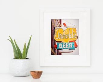 Arnold's Tavern Neon Beer Sign | Neon Sign Art | Home Bar Decor | Liquor Sign | Nebraska Art | Mid Century Art | Lincoln Nebraska