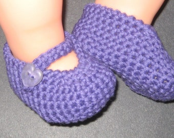 Mary Jane Baby Booties Crochet Pattern Size 0-3 Months