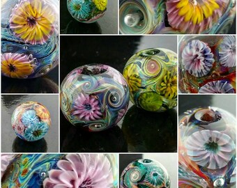 Mixed Bags of Handmade Murrini, OOAK,