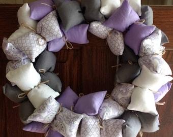 Lavender Paisley Aromatherapy Wreath