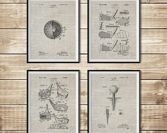 Blueprint decor etsy golf art decor patent print group golf art poster golf wall print malvernweather Image collections