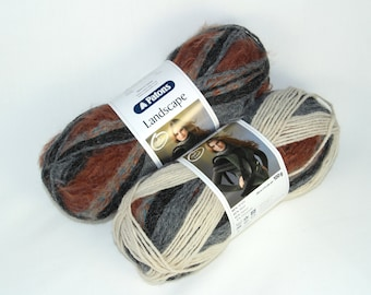 Patons Landscape - Shade 80 - self-striping yarn with different textures