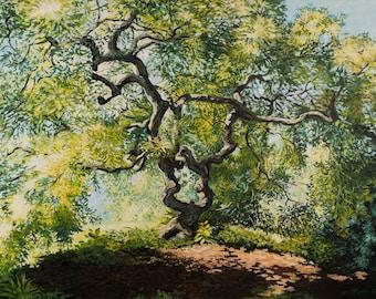 Japanese Maple Acrylic Painting
