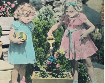 Natures Little Helper Hand Tinted Photo Print