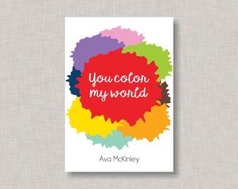 Valentine Classroom Cards, Art Valentine Card, Valentines, Classroom Valentine Card, Paint Splatter Valentine, Kids Valentine Cards