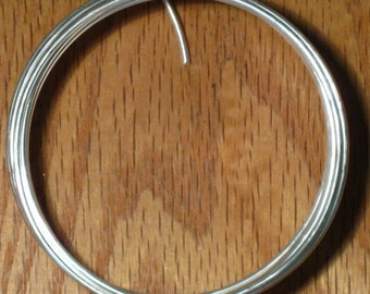 Silver Plated Wire, 14 gauge, 5.9 Feet, German Style Round Half Hard, Solid Copper Core, Bright Wrapping, Jewelry & Craft Wire