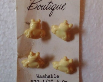 Boutique Frog Yellow frog Buttons
