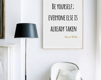 Oscar Wilde Poster, Literary Quote, Digital Print, Wall Art, Motivational Quote, Inspirational Quote, Home Decor, Printable Quote