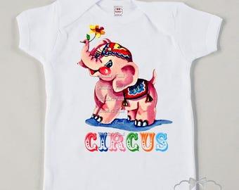 Circus Party Shirt - Circus Birthday Shirt - Circus Elephant Tee - Girly Big Top Circus - Kids Circus Shirt - Toddler Retro Baby Big Top
