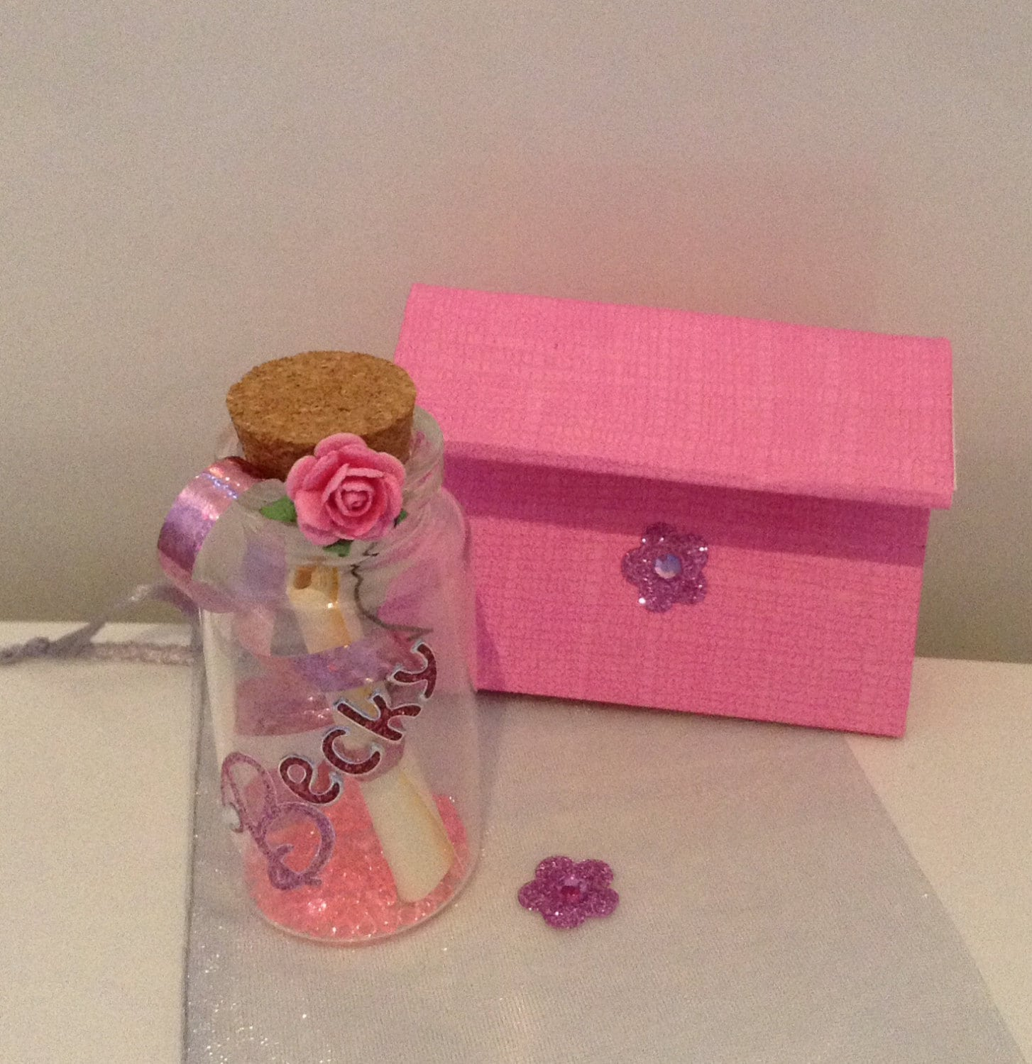 Personalised glitter & bling asking someone will you be my