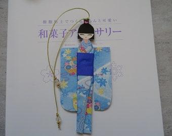 BMA00008 Handmade kawaii cute Japanese Origami Geisha bookmark Shiori Ningyo Washi Chiyogami Yuzen Kokeshi paper craft back to school