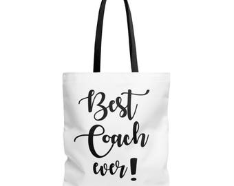 COACHES GIFT - COACH -  Best Coach Ever  - Thank You Gift - Tote Bag