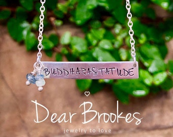Custom Necklace, Personalized Necklace, Hand Stamped Jewelry, Personalized Jewelry, Gift Idea