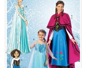 Cosplay Mc Call's M7000 snow Queen costume sewing pattern