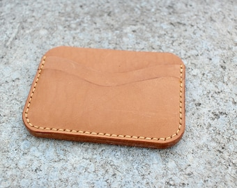 3 Pocket Card Wallet Italian Vegetable Tanned leather Tan